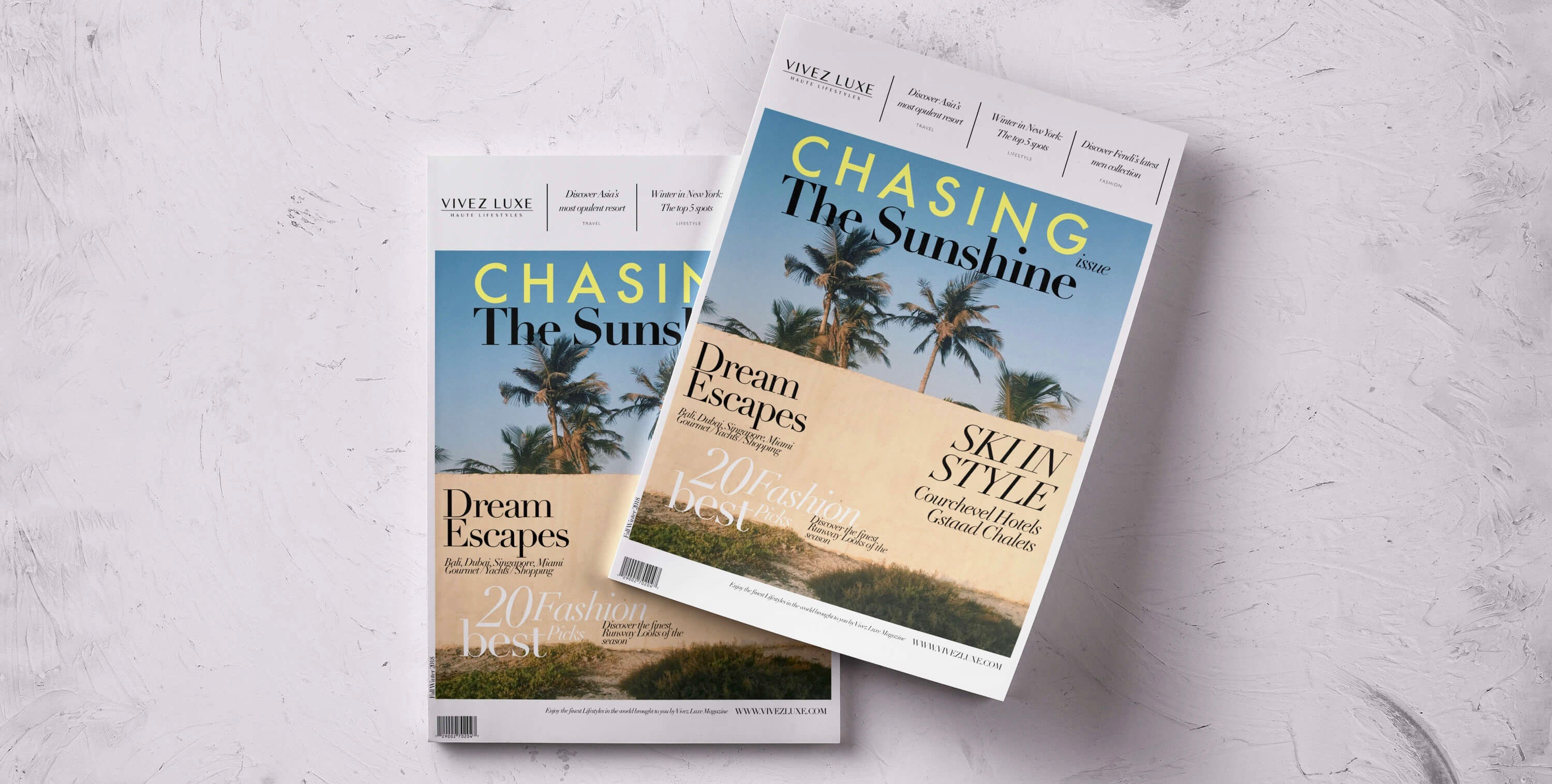 The latest cover of our 'Chasing The Sunshine Issue' Fall Winter 2018