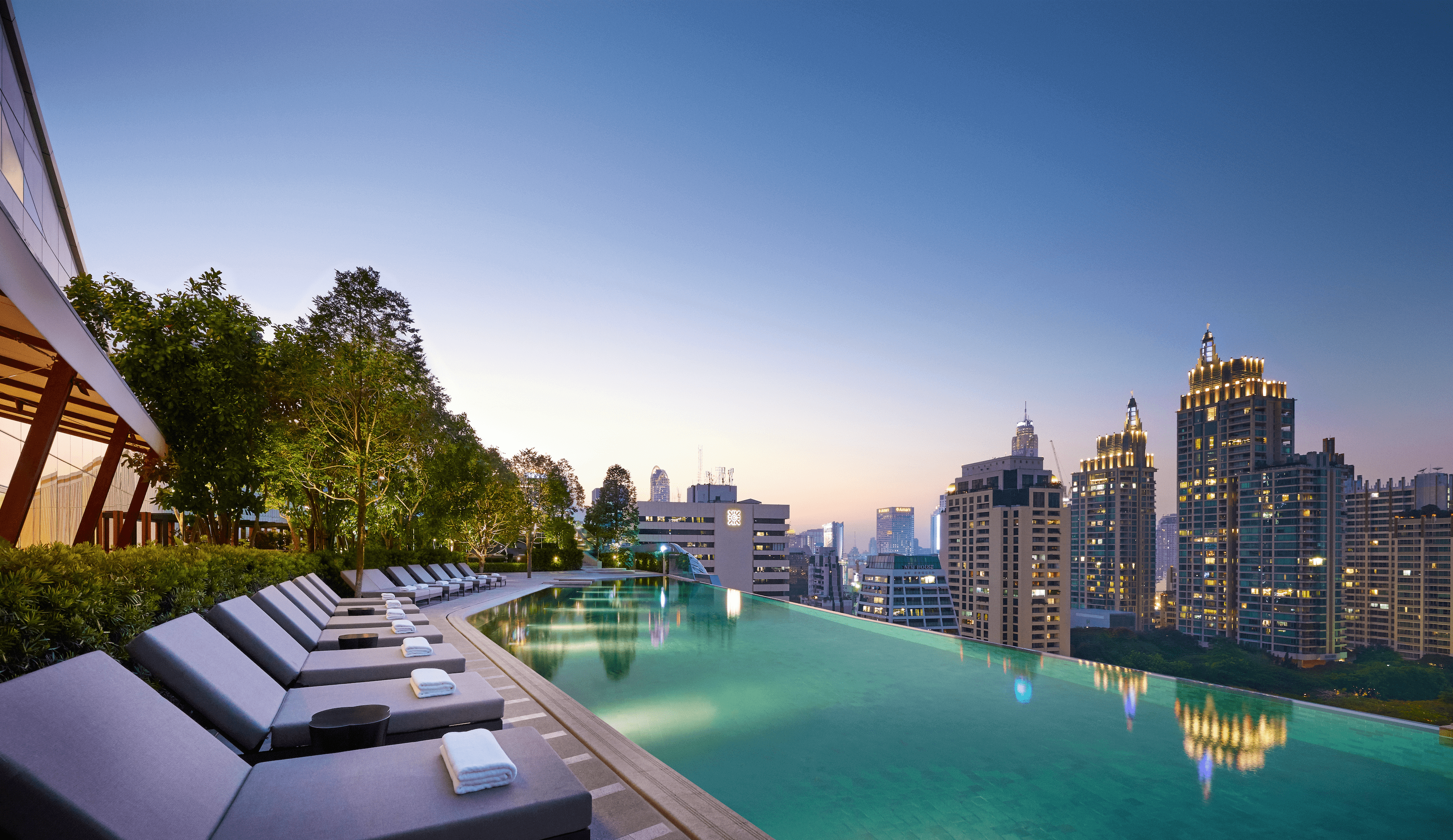 The infinity pool of the Park Hyatt