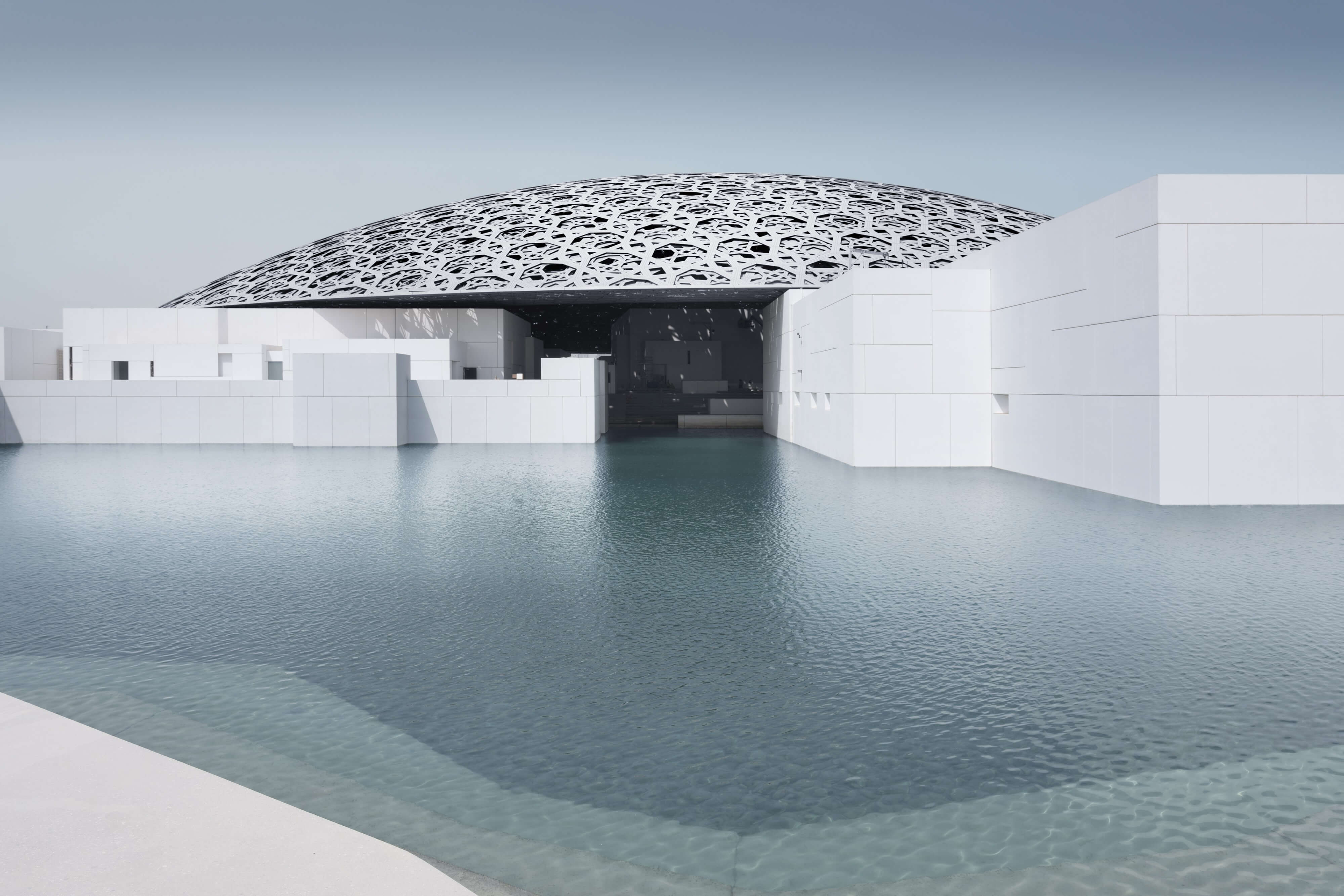 Exterior of the Louvre - Photography by Mohamed Somji © Louvre Abu Dhabi