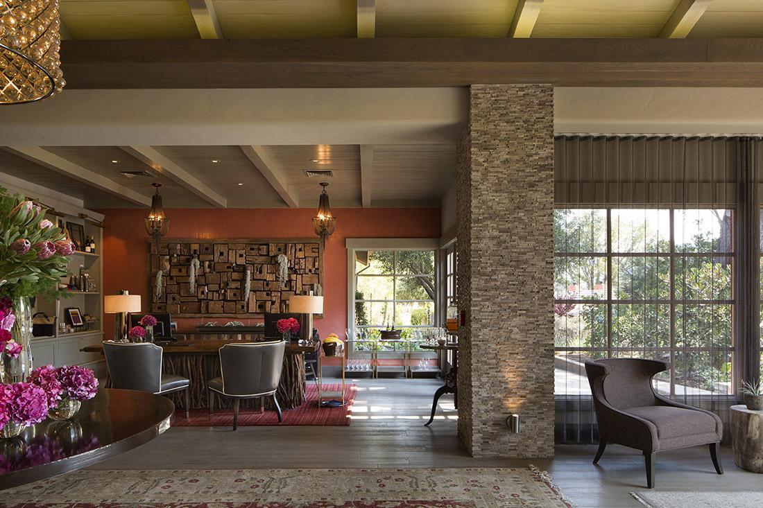 Lobby of the beautiful Bernardus Lodge