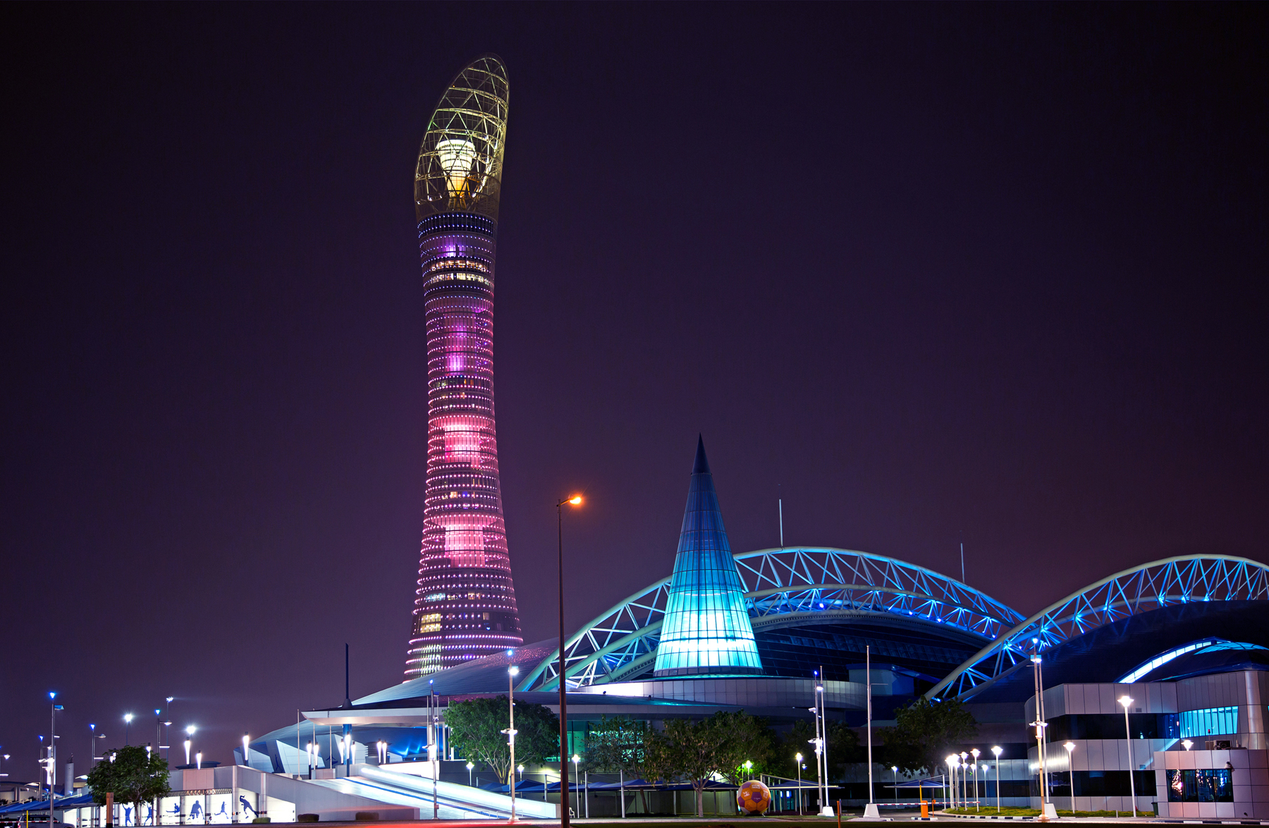 The magnificent Torch Doha at night