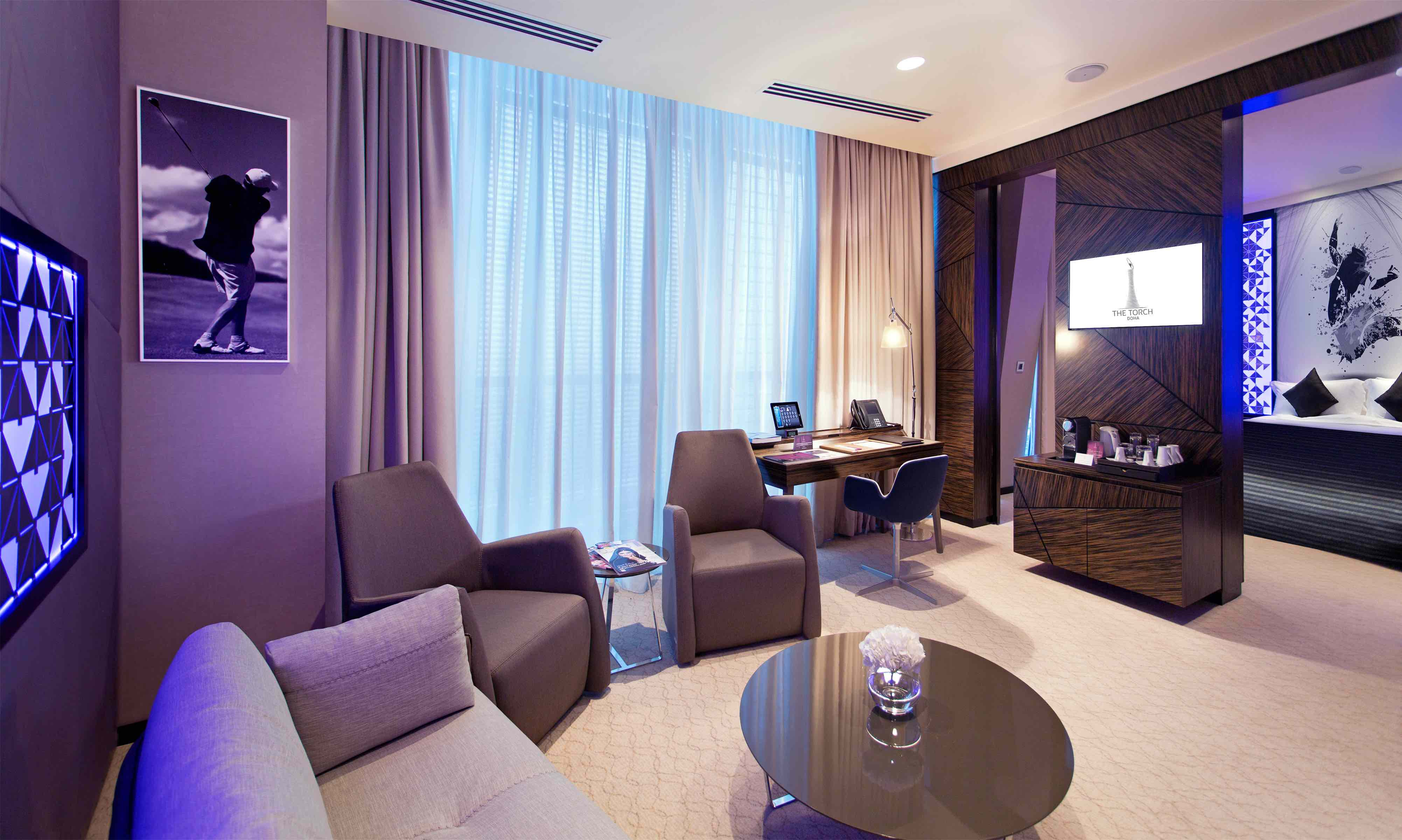 Modern interiors in one of the stylish Junior Suites