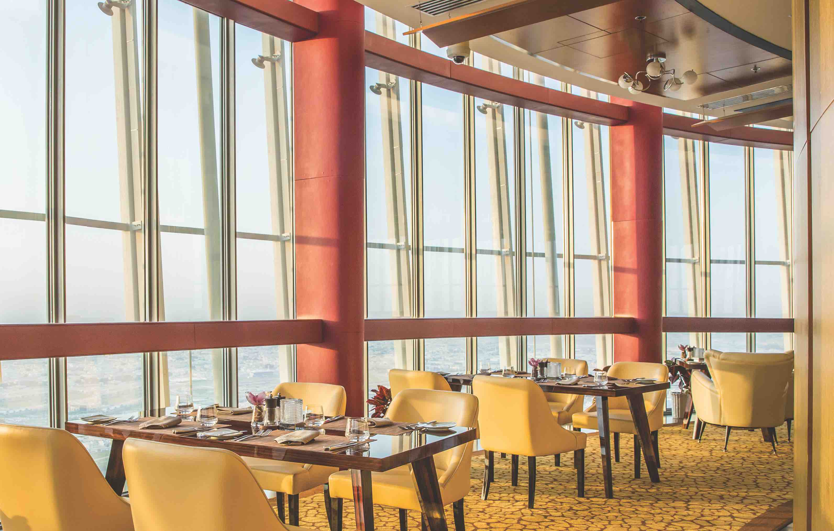 Dine in style at Three Sixty - Doha's only revolving restaurant
